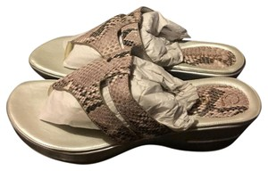 Cole Haan Taupe snake Sandals