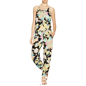 Trina Turk Straight Pants Black with bright neon tropical print