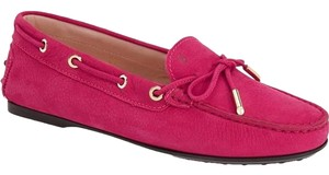 Tod's Driving Moccasins Pink Flats