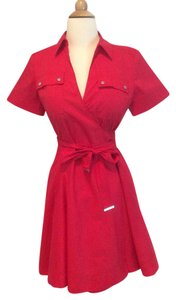 MICHAEL Michael Kors short dress Red on Tradesy