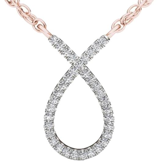 Preload https://img-static.tradesy.com/item/17810839/10kt-rose-gold-diamond-ribbon-pendant-necklace-0-1-540-540.jpg