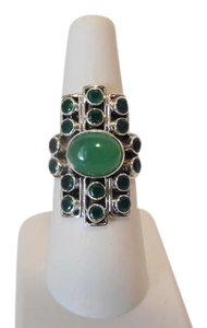Nicky Butler Nicky Butler Gemstone Apple Green Chalcedony Linear Ring 7