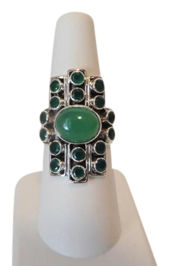 Preload https://img-static.tradesy.com/item/1781129/nicky-butler-925-gemstone-apple-green-chalcedony-linear-7-ring-0-3-540-540.jpg