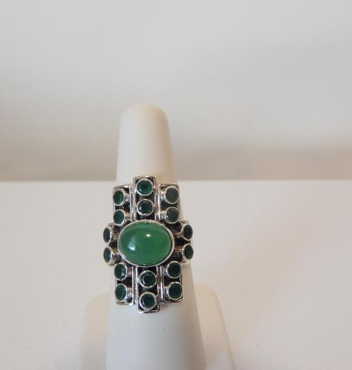 Nicky Butler Nicky Butler Gemstone Apple Green Chalcedony Linear Ring 7 Image 1