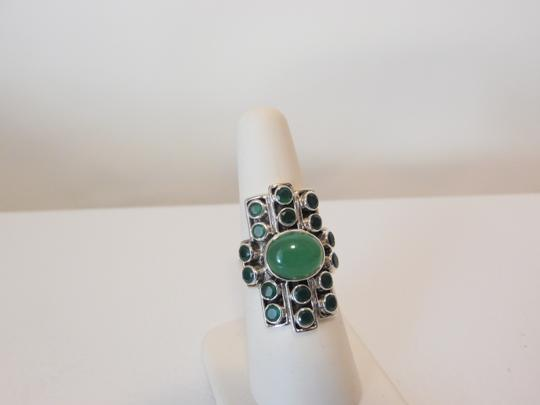 Nicky Butler Nicky Butler Gemstone Apple Green Chalcedony Linear Ring 7 Image 2