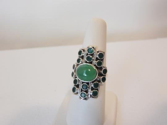 Nicky Butler Nicky Butler Gemstone Apple Green Chalcedony Linear Ring 7 Image 3