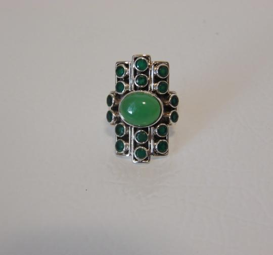 Nicky Butler Nicky Butler Gemstone Apple Green Chalcedony Linear Ring 7 Image 6