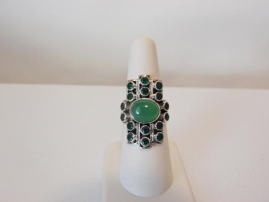Nicky Butler Nicky Butler Gemstone Apple Green Chalcedony Linear Ring 7 Image 7