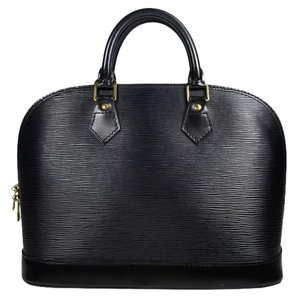 Louis Vuitton Lv Alma Epi Leather Tote in black