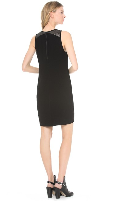 L'AGENCE Sweetheart Black Leather Dress