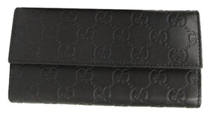 Gucci Dark Brown Guccissima Leather Clutch Continental Wallet 143389 2044
