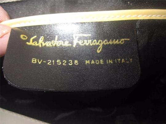 Salvatore Ferragamo Mint Vintage Dressy Or Casual Hard And Clutch/Cross Gold Gancini Hinges Cross Body Bag