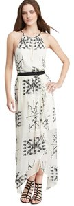 White print Maxi Dress by Twelfth St. by Cynthia Vincent Embroidered High Low Wedding Halter Maxi