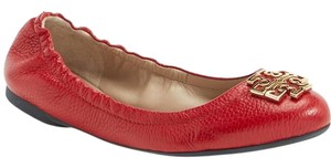 Tory Burch Melinda Gold Red Flats