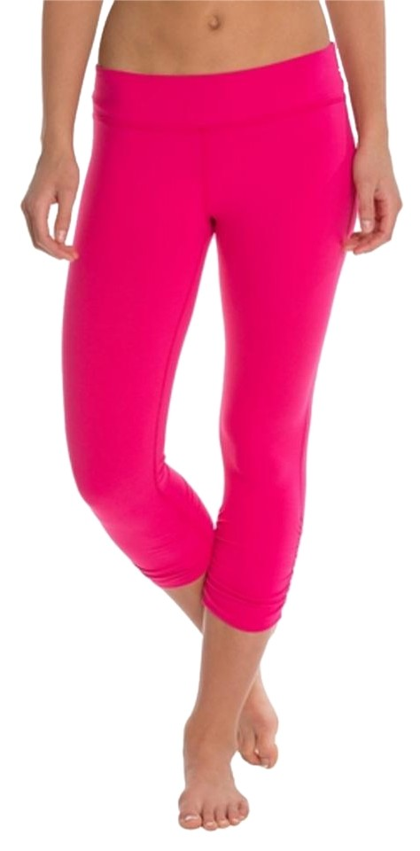 f9a0fb4222abe Beyond Yoga Hot Pink Essential Gathered Legging Activewear Bottoms ...