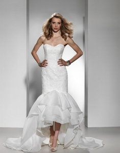 Justin Alexander 9683 Lace Sexy High Low Mermaid Strapless Justin Alexander Wedding Dress