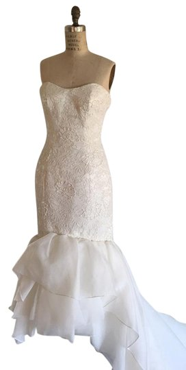 Preload https://img-static.tradesy.com/item/17811871/justin-alexander-creme-light-ivory-lace-organza-tulle-9683-sexy-high-low-mermaid-strapless-cascading-0-12-540-540.jpg
