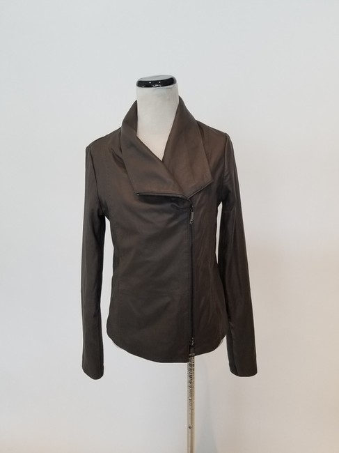 Item - Muted Brown Scuba Jacket Size 8 (M)