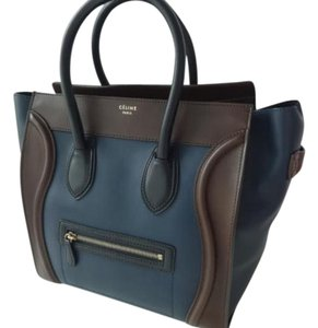 Céline Celine 2016 Satchel in black, brown, navy