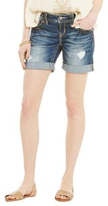 Miss Me Cut Off Shorts Medium Blue