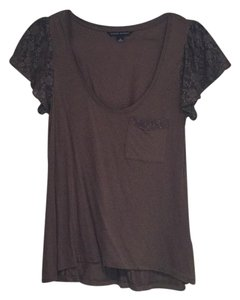 Banana Republic Lace T Shirt Brown