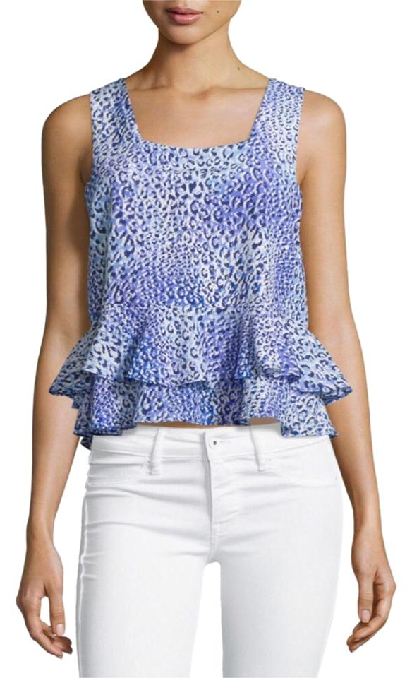 8046784e07342 Rebecca Taylor Leopard Animal Print Free Shipping Top  55 New W  Tags Size  8 Image ...