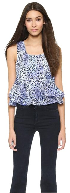 Rebecca Taylor Leopard Animal Print Free Shipping Top $55 New W/ Tags Size 8