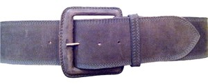 Carlos Falchi Olive Suede Belt With Rectangle Buckle