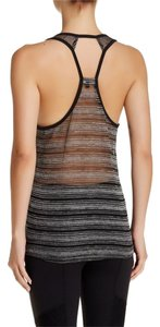 Beyond Yoga Sheer Soft Comfortable Top Black Stripe