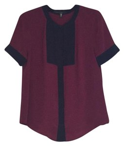 J.Crew Top Burgundy & navy
