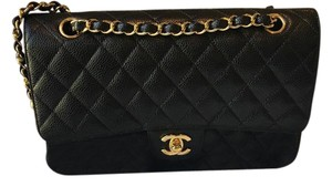 Chanel Caviar Leather Double Flap Dustbox Included Shoulder Bag