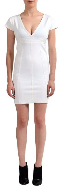 Preload https://img-static.tradesy.com/item/17812762/just-cavalli-white-v-neck-cap-sleeves-women-s-stretch-short-casual-dress-size-4-s-0-1-650-650.jpg