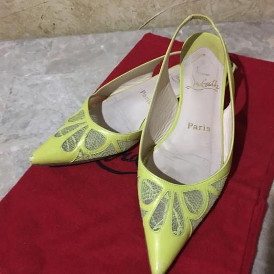 Christian Louboutin Lime green Flats