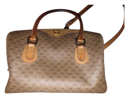 Preload https://img-static.tradesy.com/item/17812879/gucci-vintage-pursesdesigner-purses-shades-of-brown-with-small-g-logo-leathercoated-canvas-satchel-0-1-540-540.jpg