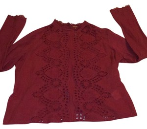 Free People Top Rusty Red
