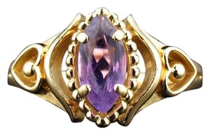 Size 6.5, 14k yellow gold, 0.40 ct. t.w. Amethyst Ring
