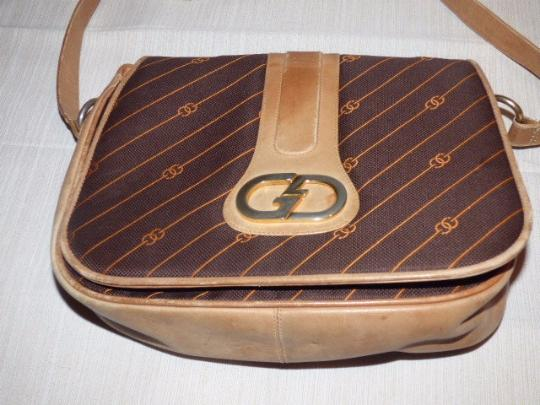 Gucci Rare Style Early High-end Bohemian Anniversary Gold Gg Accents Shoulder Bag