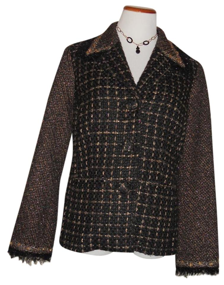 d2d212569db Chico s Multi-color High Fashion Adorned...heavy Duty Excel. Cond. Jacket  Size Petite 10 (M)