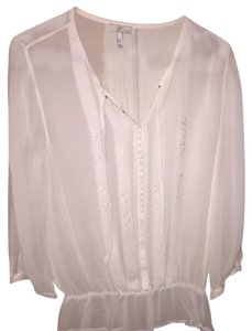 Joie Top White sheer