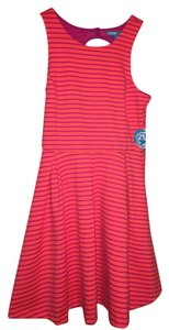 Nanette Lepore short dress Coral orange and fuchsia Fitted A-line Fucshia on Tradesy