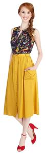 Modcloth Just Dandy Cotton Candy Skirt YELLOW