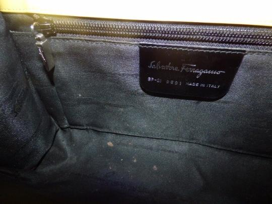 Salvatore Ferragamo Mint Vintage Dressy Or Casual Hard And Chrome Gancini Clasp Pop Of Color Cross Body Bag