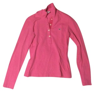 6f76fd7e627f0f Lacoste Pink Long Sleeve Button-down Top Size 4 (S) - Tradesy