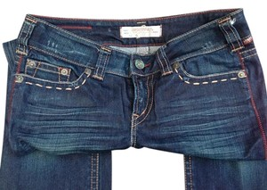 1921 Jeans Dark Wash Straight Leg Jeans-Dark Rinse