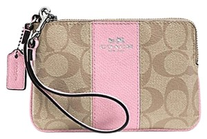 Coach Gift Box Small Zip Monogram Wristlet in Pink