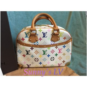Louis Vuitton Satchel in White/ Multicolor