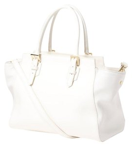 Cuir Rose Tote in white