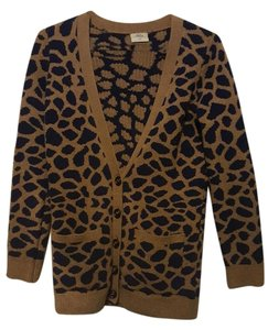 Madewell Animal Print Casual Soft Cardigan