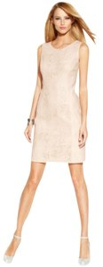 INC International Concepts Faux Leather Invisible Zipper Dress
