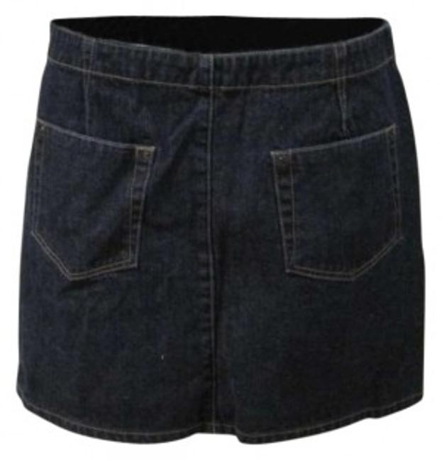 American Eagle Outfitters Summer Spring Fall Night Out Casual Mini Skirt Blue Jean
